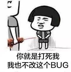 你就是打死我,我也不改这个bug