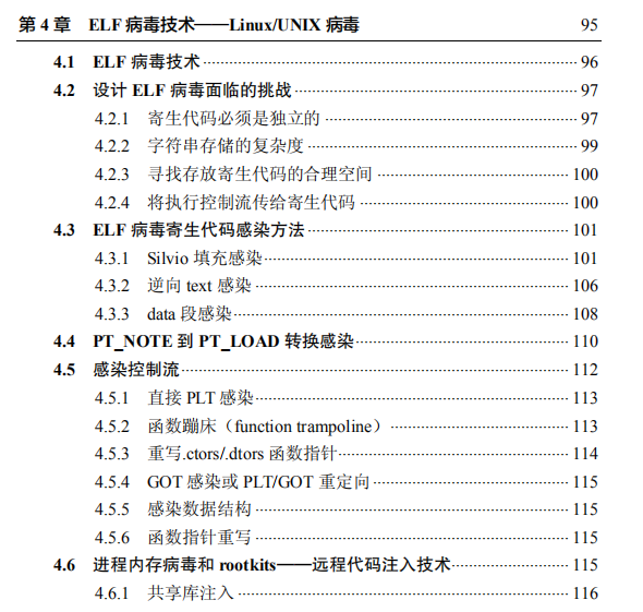 Linux二进制分析目录